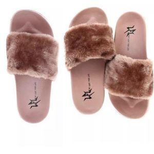 0eb946bff L4L by Lust for Life Faux Fur Slide Sandals 11M
